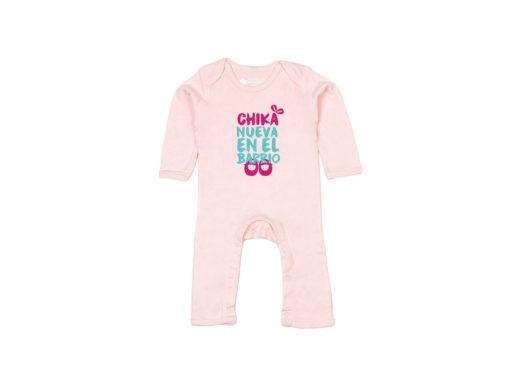 Chika nueva en el barrio - Bodie entero bebé (Powder pink)