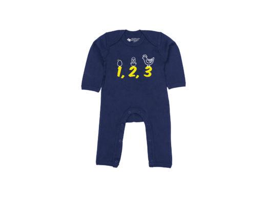 1,2,3 - Bodie entero bebé (Azul navy)