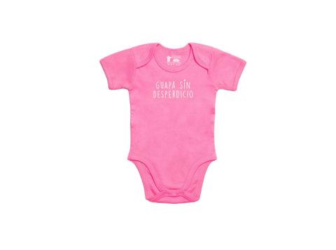 Body bebé rosa algodón orgánico - Guapa sin desperdicio