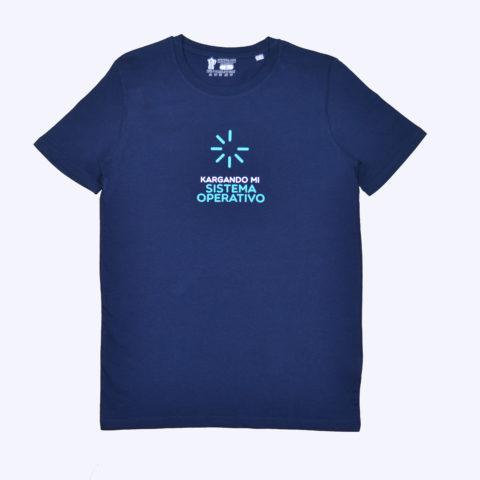 Camiseta algodón orgánico azul