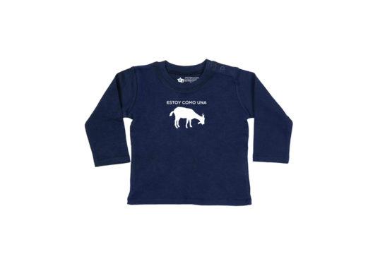 Estoy como una cabra - Camiseta manga larga bebé (azul navy)
