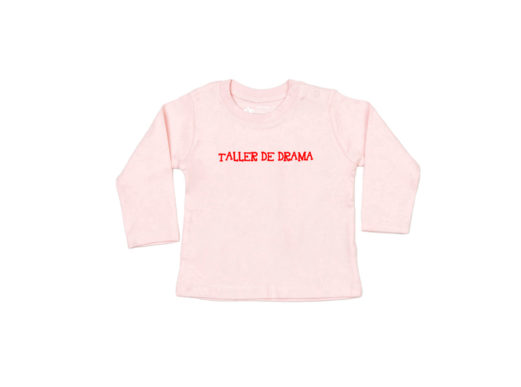 Taller de drama - Camiseta manga larga bebé (Powder pink)