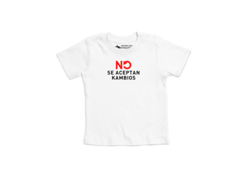 No se aceptan kambios - Camiseta manga corta bebé (Blanco)