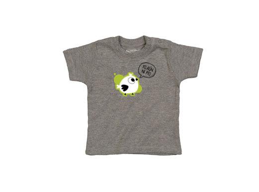 Yo aún ni pío - Camiseta manga corta bebé (Soft grey)