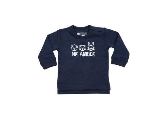 Mis Amigos – Sudadera bebé (Azul navy)