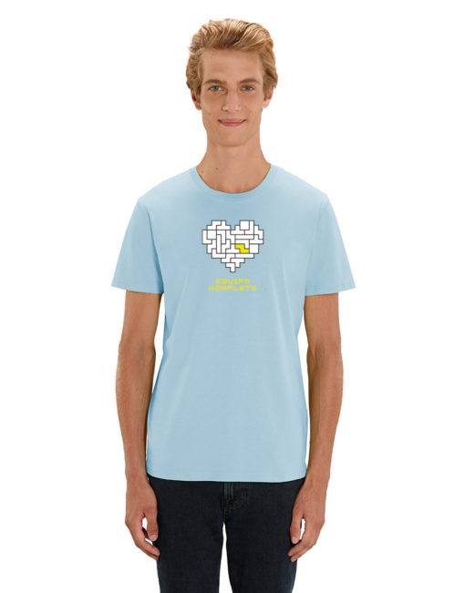 'Equipo kompleto' - Camiseta manga corta hombre (azul claro)