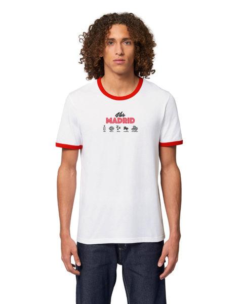 'Vive Madrid' - Camiseta manga corta unisex blanco (hombre)