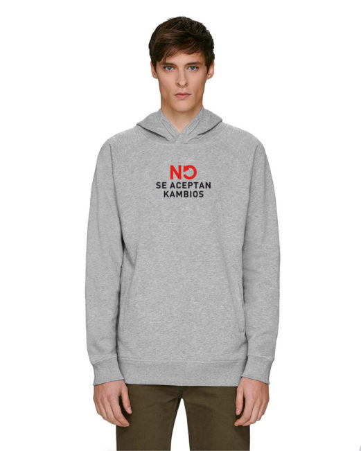 'No se aceptan kambios' - Sudadera capucha (gris)