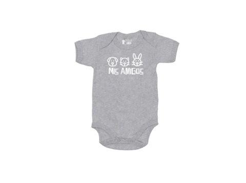 Mis amigos - Bodie manga corta bebé (gris)