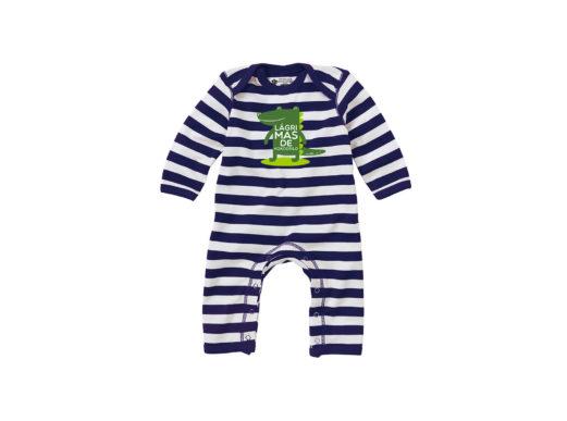 Lágrimas de kokodrilo - Body entero bebé (navy con rayas blancas)