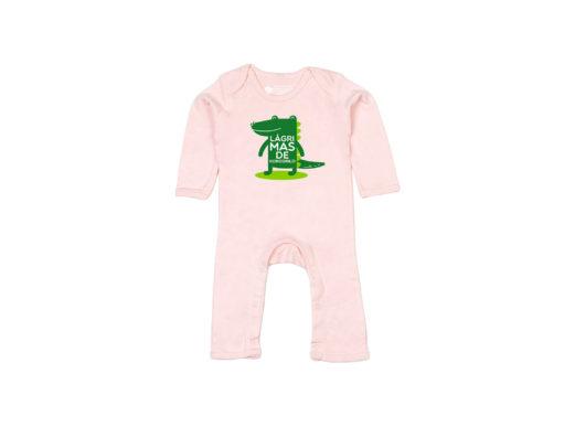 Lágrimas de kokodrilo - Body entero bebé (powder pink)