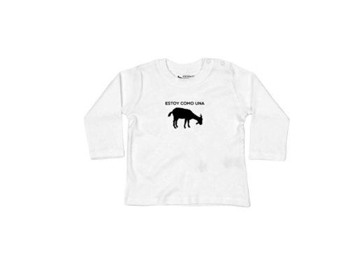 Estoy como una cabra - Camiseta manga larga bebé (blanco)