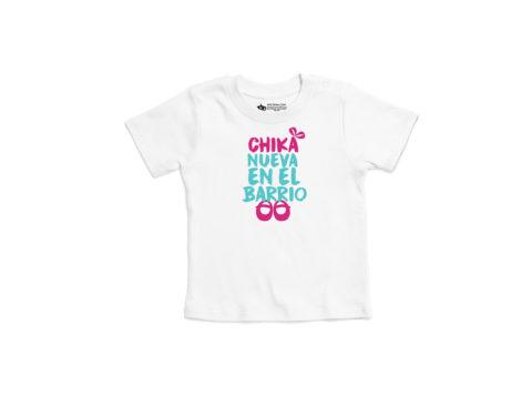 Chika nueva en el barrio - camiseta manga corta bebé (blanco)