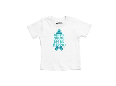 Chiko nueva en el barrio - Camiseta manga corta bebé (blanco)