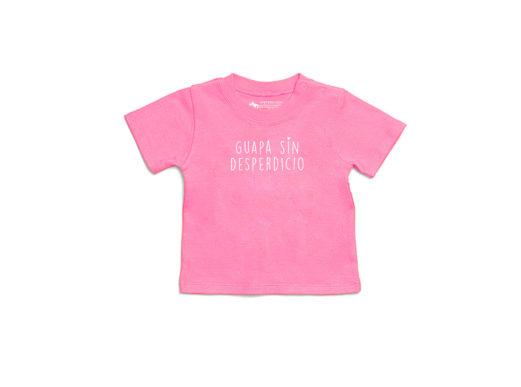 Guapa sin desperdicio - Camiseta manga corta bebé (pink bubblegum)