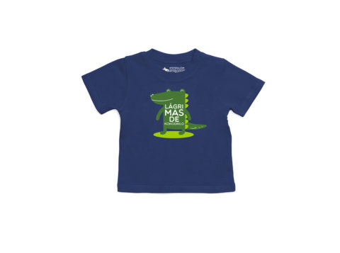 Lágrimas de kokodrilo - Camiseta manga corta bebé (nautical navy)