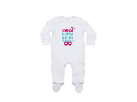 Chika nueva en el barrio - Pelele bebé (blanco)